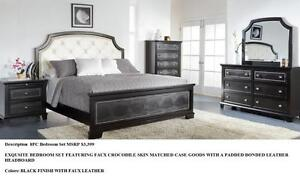 New!!! 60% OFF!!! 7PC Whiteshore Queen Bedroom Set only $1799+HST.  Set includes Queen Headboard, Footboard, Railings, D