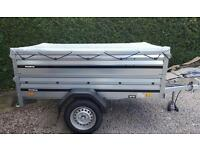 New Brenderup Car trailer 1205s +extension sides+flat cover.