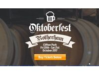 6 Seated Oktoberfest Tickets.