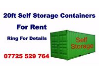 20ft storage container in secure yard For rent £20 per week Ideal for self storage,