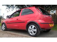 Vauxhall Corsa 3 doors, red, 1.2l, 2004, 72000 miles