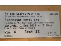 Brian Cox Ticket (Stalls) - Southend - TONIGHT - SAT 1st OCTOBER