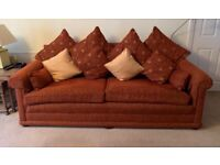 Waring and Gillow 4 piece Suite- Terracotta