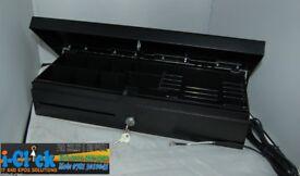 Heavy Duty Black Flip Top Cash Drawer 24v RJ11 / RJ12 FlipTop Base 460 or Anker