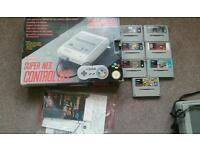 SNES Boxed Super Nintendo With Games