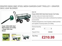 DRAPER 58552 GMC STEEL MESH GARDEN CART TROLLEY + DRAPER 26CC LEAF BLOWER
