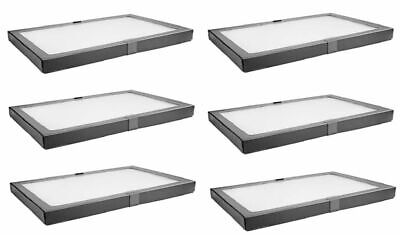 6 Pack Riker Style Display Case Box 8 X 12 X 34 Shadow Collection Foam Jewelry