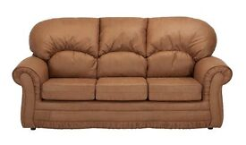 Santiago Leather Sofa **Home Delivery Available**