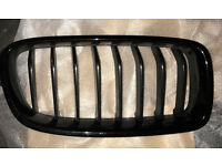Genuine BMW M Performance Black Kidney Grilles - Pair, 3 Series F30