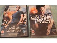 Bourne Ultimatum & Legacy DVD's