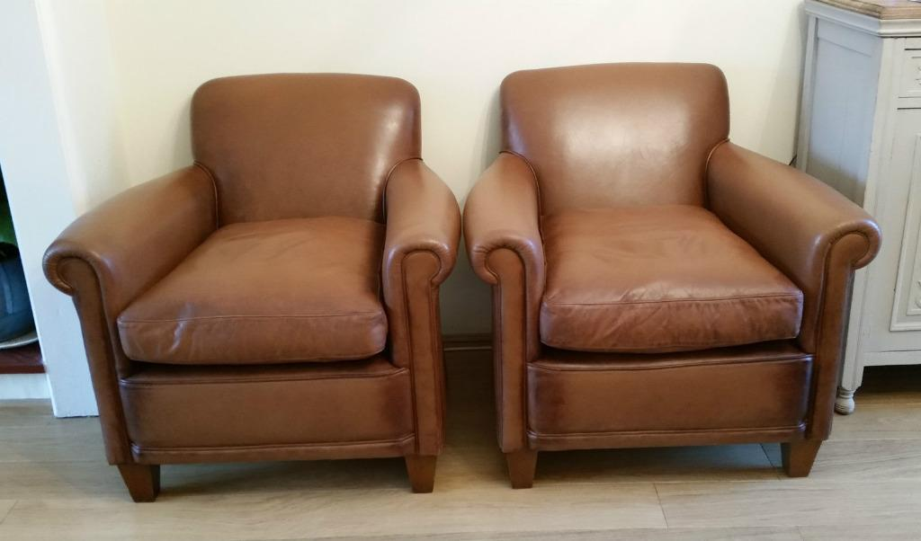 Laura ashley brown leather armchair Buy, sale and trade ads
