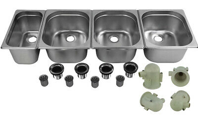 Concession Sink Portable 4 Compartment Stand Food Truck Trailer 3l1s Drain Trap