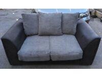 Black and grey sofa set