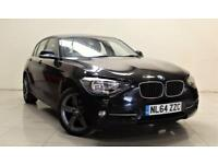 BMW 1 SERIES 2.0 116D SPORT 5d 114 BHP + TOP SPEC WITH ALL THE EXTRAS (black) 2014
