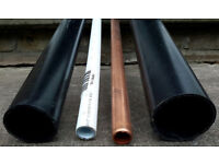 Plastic Pipes 32mm Basin & 40mm Bath & 15mm JG SpeedFit Plastic & Talon Copper FOR PLUMBERS OR DIY