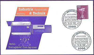 Berlin 1982: Industrie & Technik! FDC der Nr. 668 mit zwei Ersttagsstempeln! 1A!