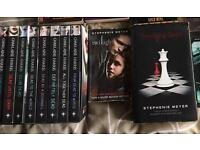 Job lot of True Blood / Twilight books