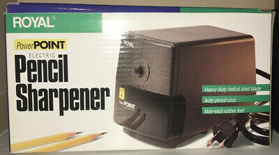 Royal Power Point 16923h Electric Pencil Sharpener Auto Stop Helical Steel Blade