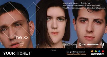 THE XX- 2x Tickets- Sydney January 20th