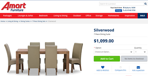 Silverwood Dining Table Suite with 6 Leather Look Chairs Canley Heights Fairfield Area Preview