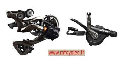 Shifter droit VTT Shimano XTR SL-M9000 à collier 11V + dérailleur XTR...