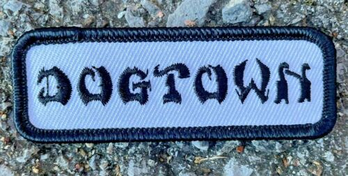 """Dogtown Skateboards Embroidered Work Black / White 3"""" Patch"""