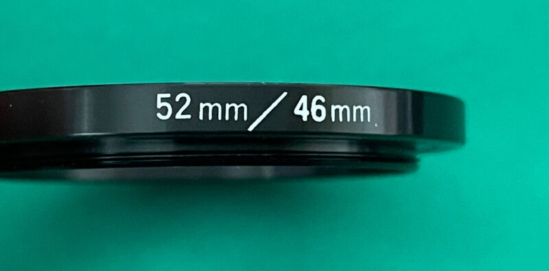 52mm to 46mm STEP-DOWN ADAPTER RING - Metal Black