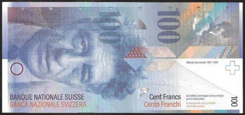 SWITZERLAND 100 FRANKEN (2007)  P:72  aUNC
