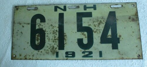 1921 New Hampshire License Plate Tag  6154