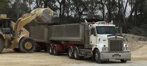 Kenworth 409 SAR with Bdouble stag tipper Willow Vale Bowral Area Preview