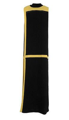 Yellow Dress Costume (COSTUME NATIONAL BLACK & YELLOW LONG COLOR BLOCK DRESS Sz)