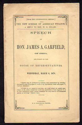 President James Garfield 1878 Speech to Congress