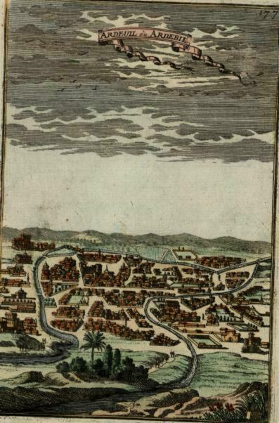 Ardabil Persia Azerbaijan Iran Middle East 1683 Mallet prospect city view