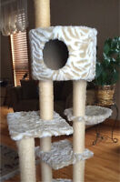Tall cat condo and accessories