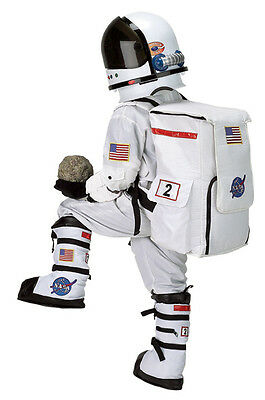 Astronaut Costume NASA White Suit, Cap, Boots, Helmet, Backpack, - Costume White Boots