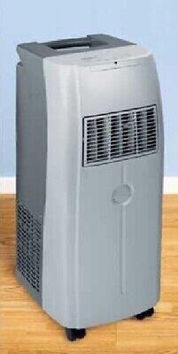 Portable Slimline Silver Air Conditioner - Remote Control - Challenge - NEW