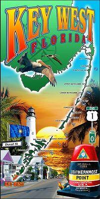 Key West Towel Florida Beach Pool Souvenir Mile Marker 0 Collage 30