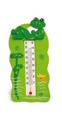 Termometro, rana nello stagno, cm 13x6