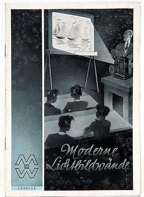 MW- Moderne Lichtwände. Kinowände für Heim Schule und Verein. Prospekt 1939/ 40