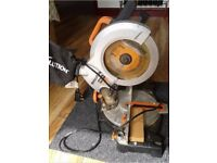 EVOLUTION R210CMS 210MM SINGLE-BEVEL COMPOUND MITRE SAW 110V