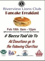 #Becca Told Us To        Fundraiser Pancake Breakfast