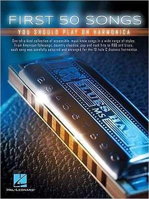 Mundharmonika Noten   - FIRST 50 SONGS - YOU SHOULD PLAY ON HARMONICA - LEICHT