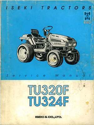 Iseki Tractor Tu320f Tu324f Workshop Service Manual