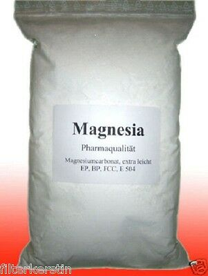 Grundpreis 16€/kg -  500 g Magnesia Magnesiapulver Chalk