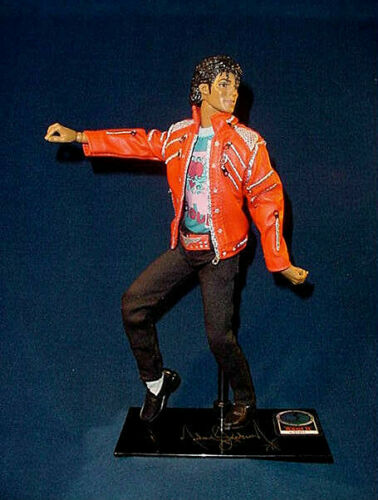 "Deluxe MICHAEL JACKSON Beat It No:01451 Signature Base Jointed 10"" Figurine Doll"