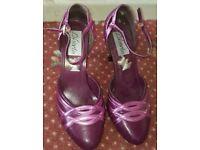 Shoes pink purple high heel