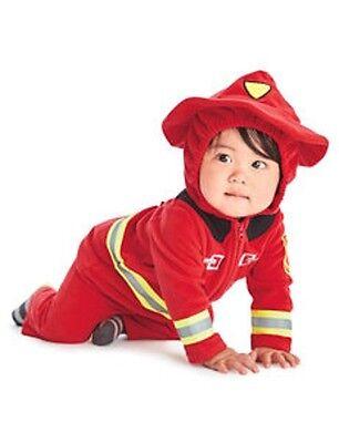 Carters Baby Boy Firefighter Fireman Halloween Costume Size 3-6 months NEW