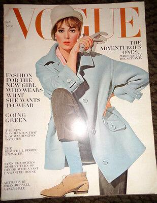 Vtg Vogue '63 Veruschka Irving Penn Helmut Newton Horst Peter Beard David Bailey