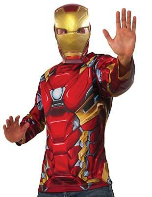 MARVEL AVENGERS Civil War Iron Man Costume Top and Mask Adult Large