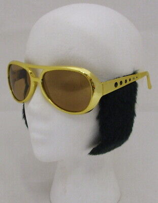 Packung 10 Kostüm Rock n Roll Brille & - Elvis Rock N Roll Brille